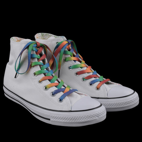 Chuck Taylor All Star Hi Pride in White and Rainbow