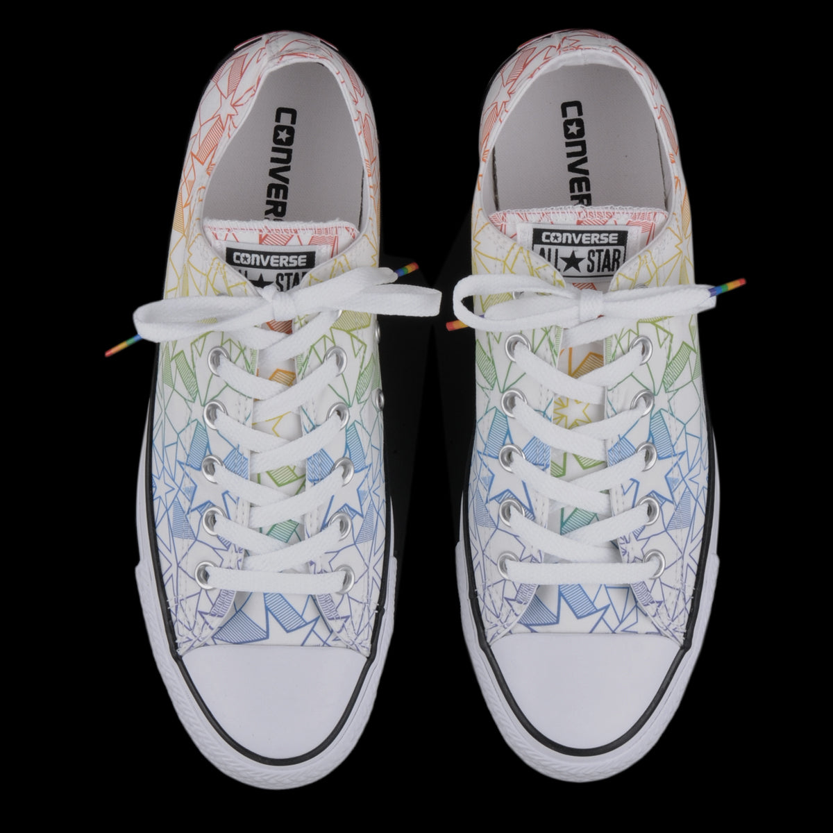 Converse - Chuck Taylor All Star Ox Pride in White and Rainbow Star ... af46a74c7