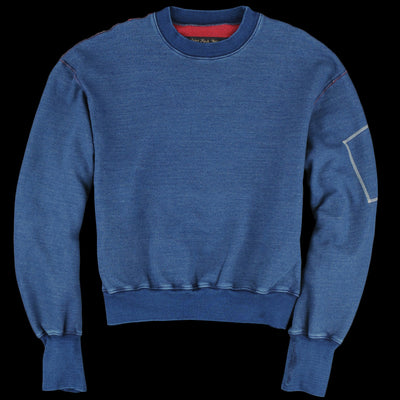 Kapital - IDG Fleecy Knit Flight Big Sweatshirt in Indigo