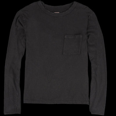 Kapital - Crash Jersey Long Sleeve Tee in Sumi