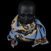 Kapital - Compressed Wool Weaving Snake Scarf in Blue