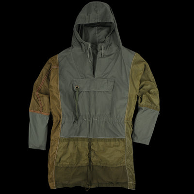 Kapital - Broad Cloth x Parachute Anorak Big Hood Parka in Khaki