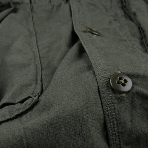 Broad Cloth Anorak Shirt in Khaki