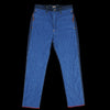Kapital - Denim x Waffle Quilting 2 Tone Swing Pant in Indigo