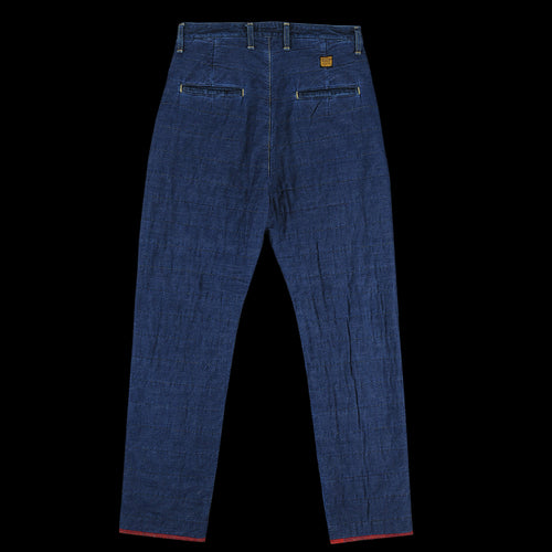 Denim x Waffle Quilting 2 Tone Swing Pant in Indigo