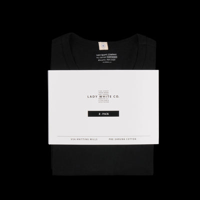 Lady White Co. - Two Pack T-Shirt in Black