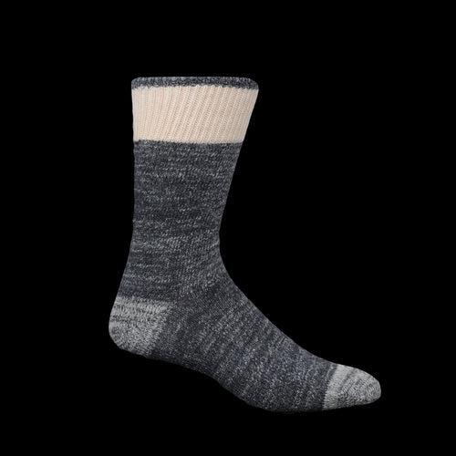 Cotton Wool Dustbowl Work Sock in Charcoal