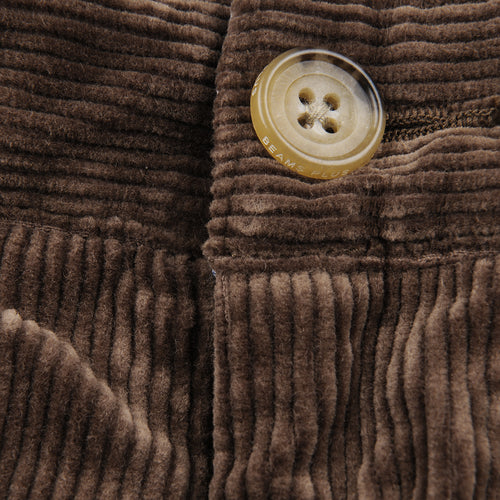 Corduroy Two Pleat Pant in Golden Brown