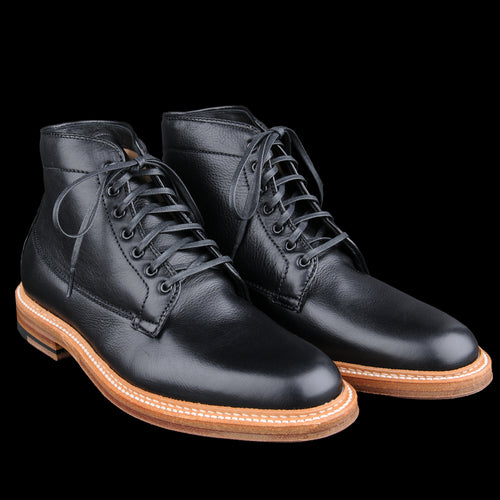 Plain Toe Michigan Boot In Lady Calf Black D6843