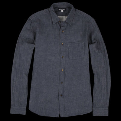 Alex Mill - Solid Heather Double Gauze Shirt in Heather Navy