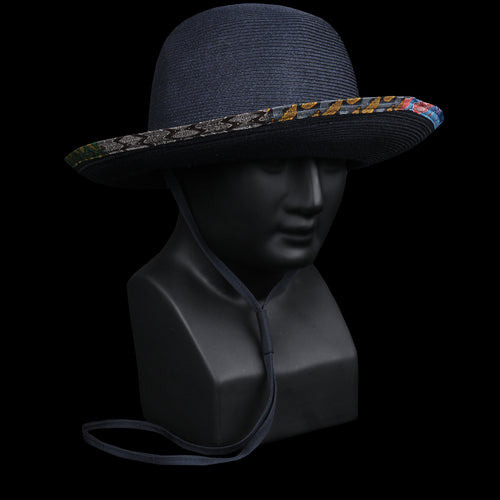 Azona Toyo Hat with Ties in Navy
