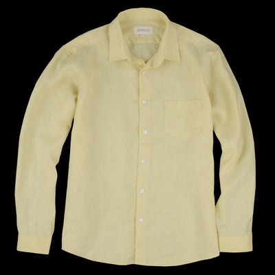 Far Afield - Classic Shirt in Yellow Linen