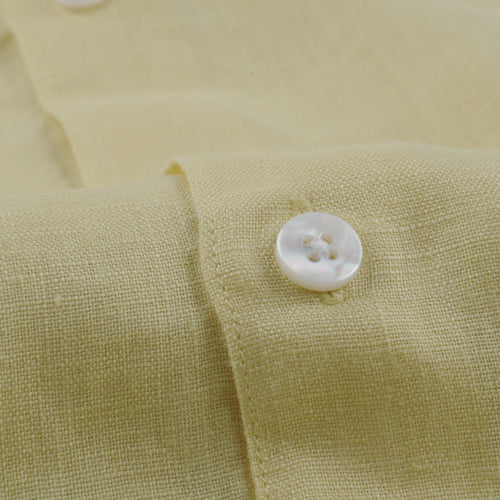 Classic Shirt in Yellow Linen