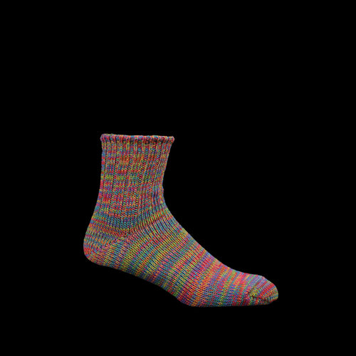 5 Color Mix Quarter Sock in Red & Green