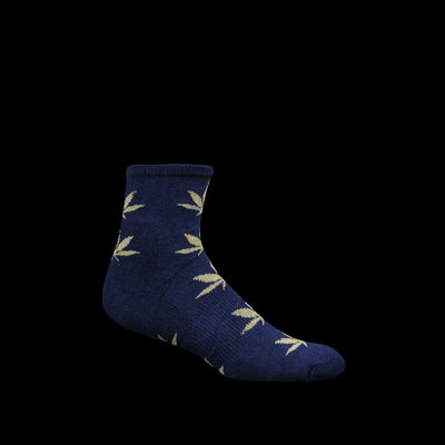 Anonymous Ism - Go Hemp Pattern Pile Quarter Sock in Navy