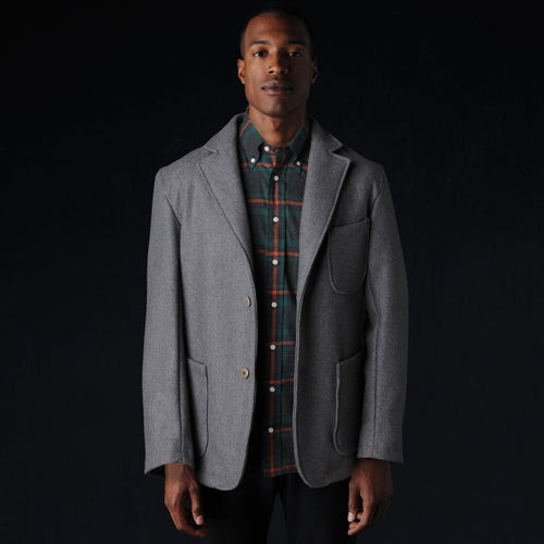 Lux Wool Blazer in Grey