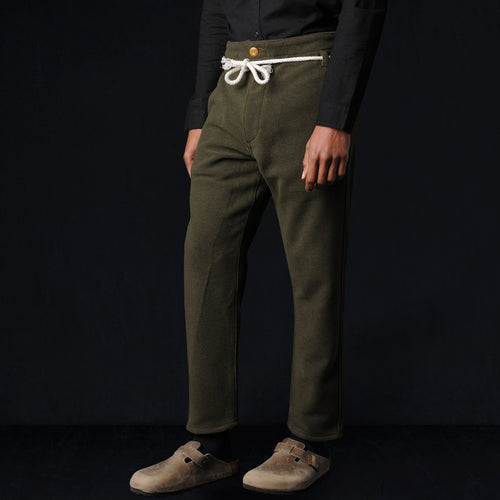 Kaze Cotton Wool Pant in Olive