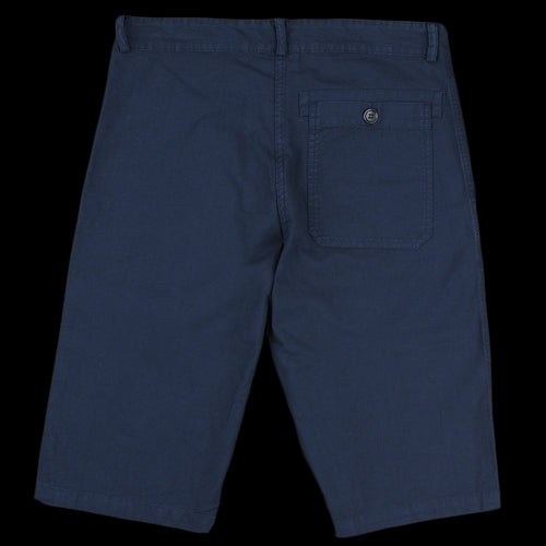 Light Cotton Canvas Short in Overdye Navy