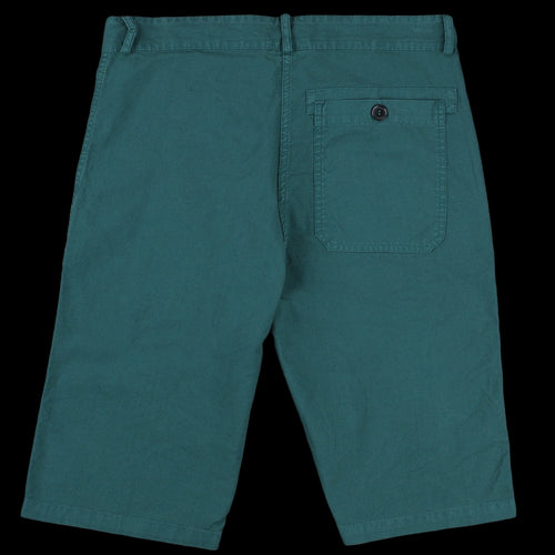Light Cotton Canvas Short in Overdye Bottle Green
