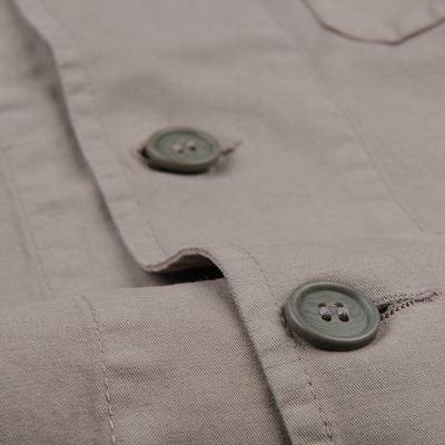 Vetra - Cotton Linen Blazer in Overdye Tan
