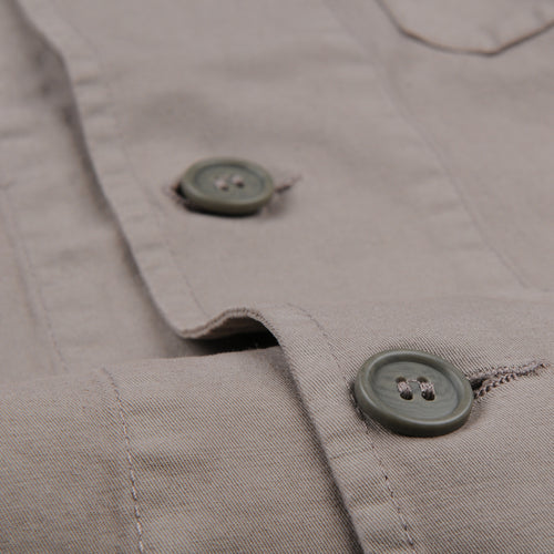 Cotton Linen Blazer in Overdye Tan