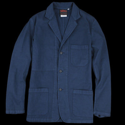 Vetra - Cotton Linen Blazer in Overdye Navy