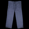 Ts(S) - Linen Blend Twill Drawstring Wide Pant in Navy