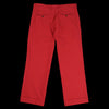 Ts(S) - Garment Dye Cotton Wool Two Pleat Wide Pant in Red
