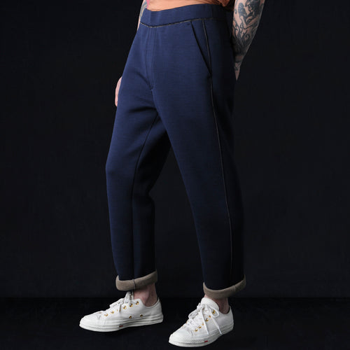 Double Jersey Taper Pant in Blue
