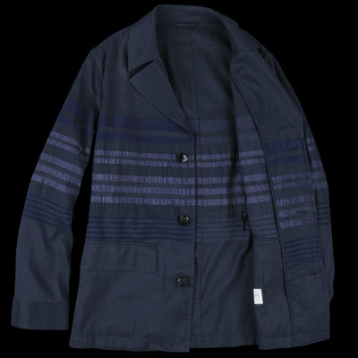 Tomorrowland - Panel Stripe Military Jacket in Blue