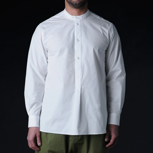 Click Box Half Placket Shirt in Ivory