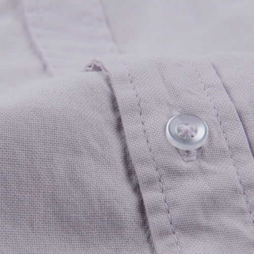 Oxford Button Down Collar Shirt in Violet