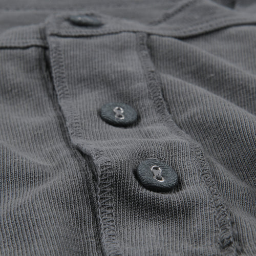 Hemp Long Sleeve Henley in Park