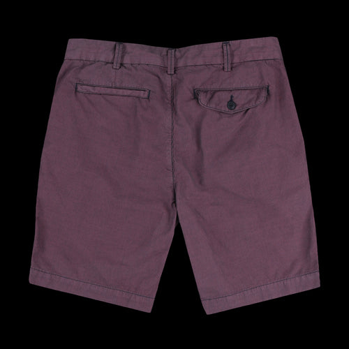 Navy Pinstripe Bermuda Short in Berry