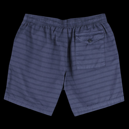 Marine Stripe Twill Easy Short in Blue