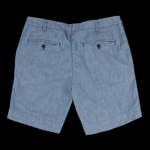 Chambray Walking Short in Indigo