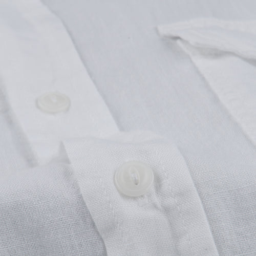 Cotton Linen Work Shirt in White