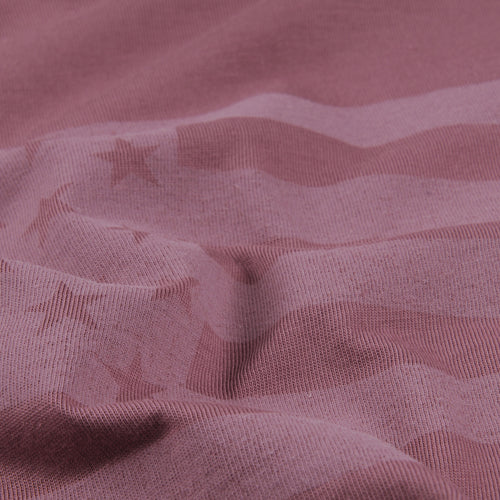 Flag Print Tee in Berry