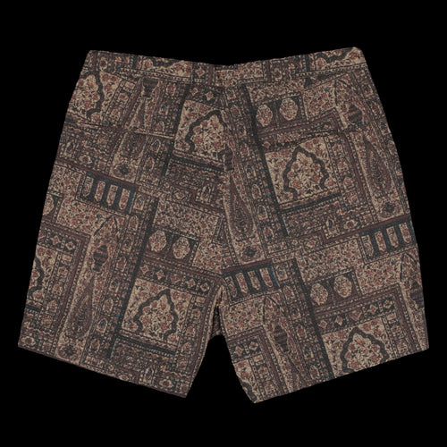 Seersucker Batik Wide Short in Brown