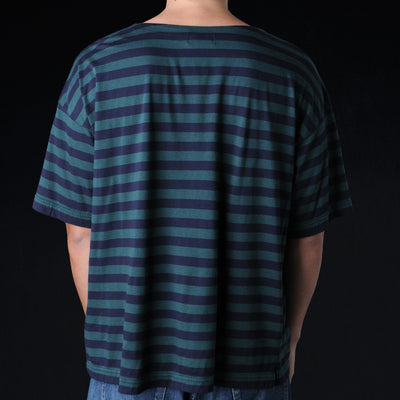 Chimala - Border Pocket Tee in Green & Navy