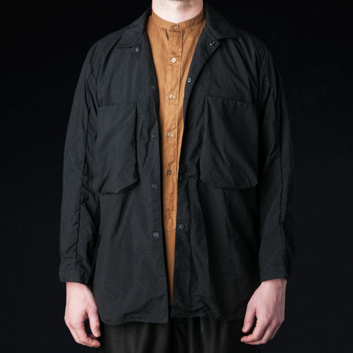 Nylon Utility Shirt in Black