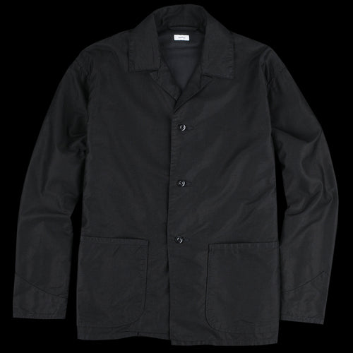 Cupro Cotton Chore Jacket in Black