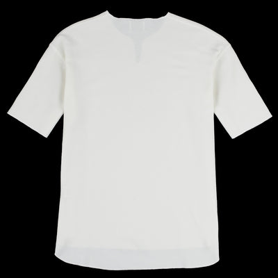 Blurhms - Rootstock Rough & Smooth Thermal Loose Fit Over Neck Tee in Off White