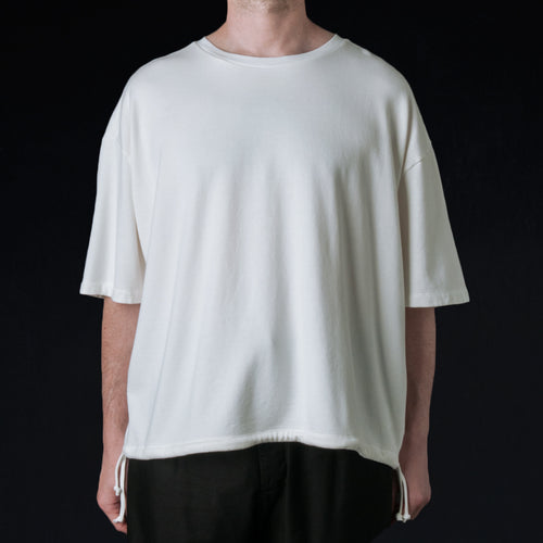 French Terry Huge Tee in Off White