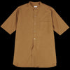 Blurhms - Soft Ox Band Collar Shirt in Camel