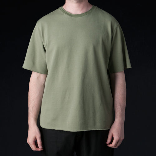 Seed Stitch Tee in Light Khaki