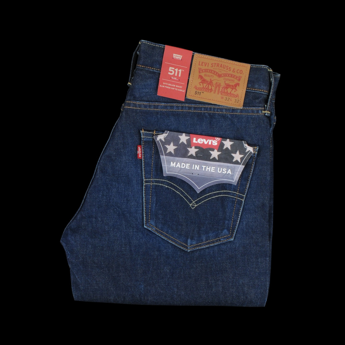 d1eb3c3de02 Levi's Made In The Usa - Selvedge 511 Slim Fit Jean in Rinse - UNIONMADE