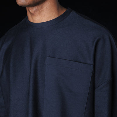 Grei. - Ultra Fine Terry Oversized Crew in Midnight Blue