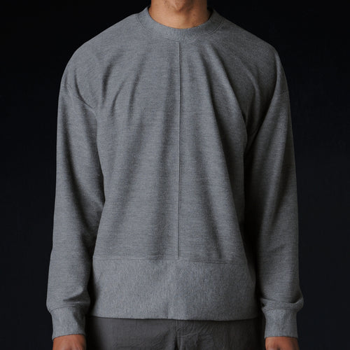 Ultra Fine Terry Big Sweatshirt in Charcoal