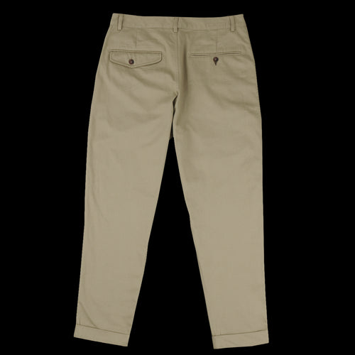 Twill Pleated Pant in Sand